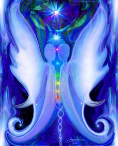 Twin Flames Blue Decor Chakra Art Print
